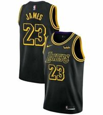 "Lebron James Los Angeles Lakers ""The King"" #23 Black Swingman Jersey Basketball"