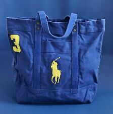 NWT Polo Ralph Lauren Cotton Canvas Beach Tote Bag - Unisex (Limited Styles)