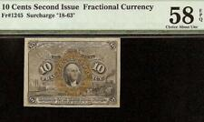 10 CENT FRACTIONAL NOTE 1863 1867 CURRENCY PAPER MONEY Fr 1245 PMG 58 EPQ