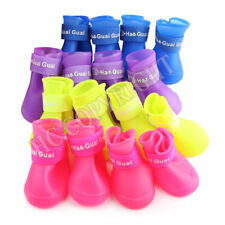 Waterproof Rubber Dog Boots Rain Shoes Bottie Candy Color S-L For Puppy & Dogs