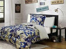 Fancy Collection 6pc Kids/Teen Army Camouflage Beige Taupe Blue Comforter...