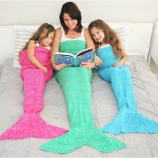 Mermaid Tail Blanket  For Adult Super Soft All Seasons Sleeping Knitted Blankets