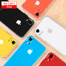 For iPhone XR 8 7 Crystal Clear Shockproof Phone Case Slim Hybrid Hard PC Cover