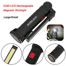 COB + LED Work Light Flashlight Torch Rechargeable Magnetic Inspection Lamp