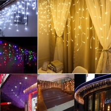 LED Window Curtain Icicle String Fairy Lights Wedding Party Christmas Decor New
