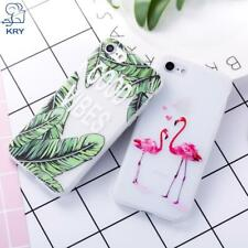 KRY Relief Flamingos Phone Cases For iPhone 7 Case 7 8 Plus Cases For iPhone X L