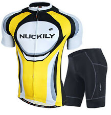 Men's Cycling Jersey Bike Padded Shorts Bicycle Wear Cycle Suit Clothing M-XXL