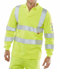 ARC FLASH HI VIZ POLO SHIRT SATURN YELLOW