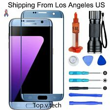 Tool Blue OEM Front Screen Glass Lens Replacement Kit For Samsung Galaxy S7 Edge
