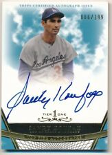 SANDY KOUFAX 2011 TOPPS TIER ONE ON CARD AUTOGRAPH DODGERS AUTO SP #006/199