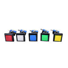 square lit illuminated arcade video game push button switch LED light lamp BSC
