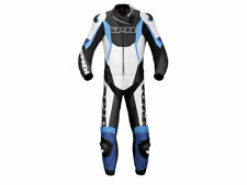 """Spidi """"Sport Warrior Touring"""" Motorcycle Leather Suit (2-Pc) White/Blue"""