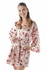 Momomio Womens Satin Robe Kimono Bridal Dressing Gown Wedding Bride Bridesmaid S