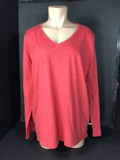 Womens Top Long Sleeve Tee Shirt V-Neck Casual New Directions Size LG & XL NEW