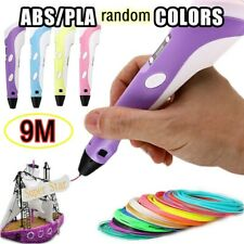 3D Printing Pen Crafting Doodle Drawing Arts Printer Modeling PLA/ABS Filaments