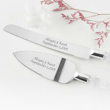 Personalized Engraving Cake Severing Cake Knife Set for Wedding Gift Stainless