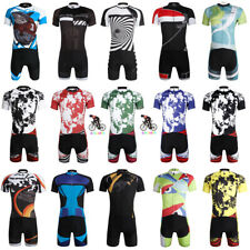 Mens Team Bike Sports Clothing Short Sleeve Tops Cycling Jersey Shorts Wear Suit