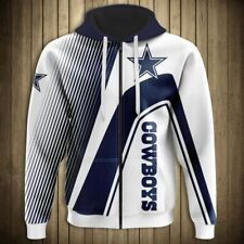 DALLAS COWBOYS Hoodie Zip Up Hooded Pullover S-5XL Football Team Fans NEW