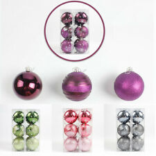 12X 8cm Christmas Tree Ball Ornament Bauble Xmas Holiday Hanging Pendant 5 Color