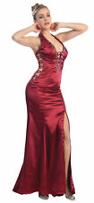 SALE NEW SEXY PROM DRESS EVENING HALTER GOWN UNDER $100 BEADED SPECIAL OCCASION