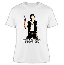 May The Force Be With You Star Wars Solo white T Shirt