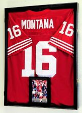 NFL Football Jersey Display Case Frame Wall Box Cabinet