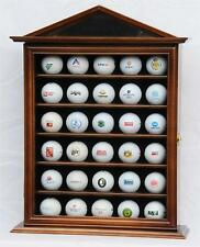 30 Golf Ball Designer Display Case Cabinet Wall Rack UV