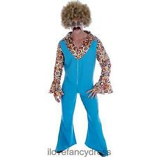 MENS 1970S GROOVY MOVER FANCY DRESS COSTUME JUMPSUIT !
