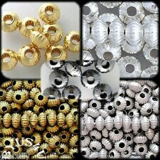 SAUCER RONDELLE SPACER BEADS 5x3mm CORRUGATED 50pc