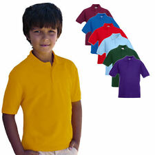Fruit of the Loom Kinder 65 / 35 Polo Shirt 104-164 Neu