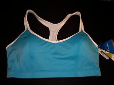 NWT $38 Champion Sports bra Shape T-Back 1050  Ocean Bl