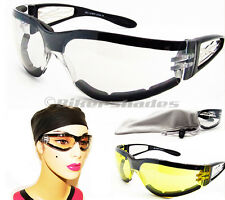 women lady girl motorcycle clear riding biker glasses