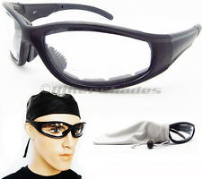 Z87 Bifocal Motorcycle Safety Glasses Clear Night Biker Riding Mens Large Fit