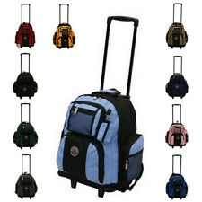 "NEW 18"" ROLLING WHEELED BACKPACK/ BOOKBAG ( 10 COLORS )"