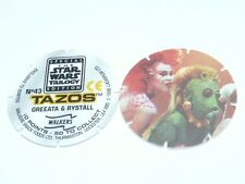 Star Wars Trilogy Tazos - Jabba The Hutt (No 42) or Greeata & Rystall (No 43)