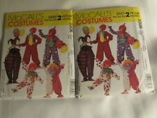 McCall Sew Costume Pattern Clown Jester Hats Adult Sizes Props Easy 2 hour