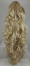 Long Curly Ponytail Hairpiece Claw Clip On in Black Brown Auburn Blond and More