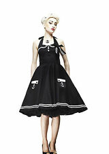 HELL BUNNY BLACK MOTLEY 50'S SAILOR SKULL PIN UP DRESS 8-22 PLUS SIZE NEW TAGS
