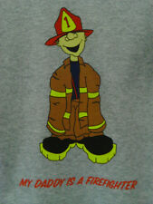 New Children's My Daddy is a Fire Fighter t-shirt (youth) Grey, Short Sleeve