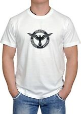 CAPTAIN AMERICA SSR EAGLE WING COOL DTG PRINT LOGO WHITE T-SHIRT S-3XL