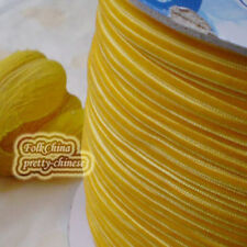 "3mm 1/8"" Dark Yellow Velvet Ribbons Craft Sewing Trimming Scrapbooking #20"