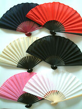 A Beautiful Women's Chinese Cotton Hand Fan for Wedding, Gifts, Party Bag Filler