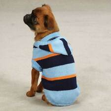 Blue Dog Hoodie Hoody Sweater Striped Knit by Zack & Zoey XS Small Med only