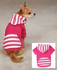 Dog Hoodie Pullover  - Pink Raspberry Brite Stripe Hoody - East Side Collection