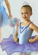 NWT BALLET COSTUME BUTTERFLY SEQUIN Organdy TUTU GIRLS Sizes Lt Blue Lilac