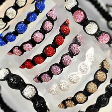 Shamballa Paris Friendship Bracelet Disco Crystal Ball Bead Unbranded A+ Quality