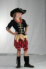GIRLS PIRATE FANCY DRESS OUTFIT COSTUME BUCCANEER SWEETIE BNWT AGES 4-12