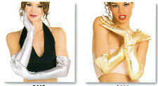 NEW WRIST GLOVES DANCE THEATRICAL Gold Silver Adult