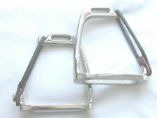"""Child & Junior Peacock Safety Stirrup Irons with Treads in 3.5"""",4"""" & 4.5""""- NEW"""