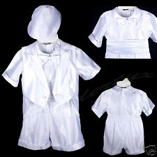 Infant Toddler & Boy Christening Baptism Suit Outfit Sz:M L XL 2T 3T 4T (0 -36M)